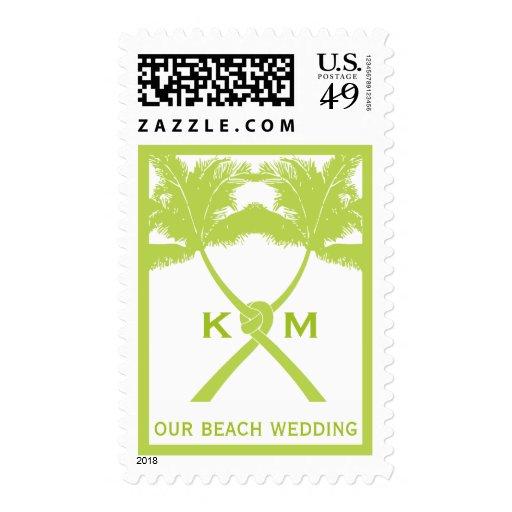 Moda moderna del boda tropical de la playa de las sellos