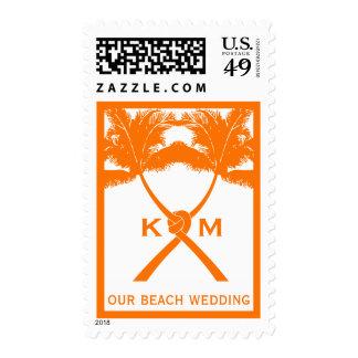 Moda moderna del boda tropical de la playa de las sello