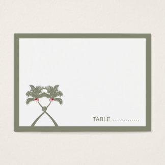 Moda moderna del boda tropical de la playa de las tarjeta de negocios