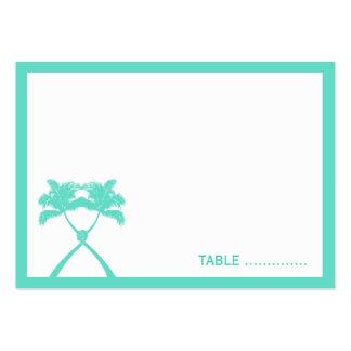 Moda moderna del boda tropical de la playa de las tarjetas de visita grandes