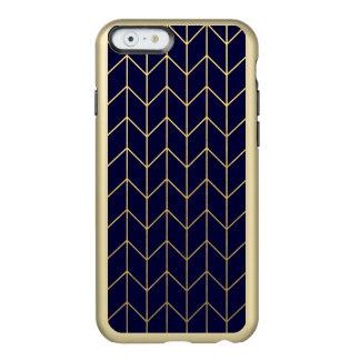 Moda moderna del fondo de los azules marinos de funda para iPhone 6 plus incipio feather shine
