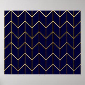 Moda moderna del fondo de los azules marinos de poster