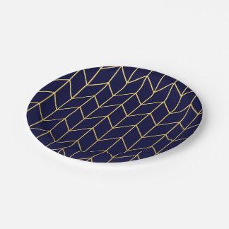 Moda moderna del fondo de los azules marinos de plato de papel 17,78 cm