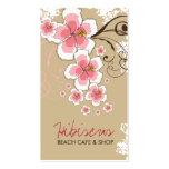 Moda moderna del hibisco del rosa del vintage tarjetas de visita