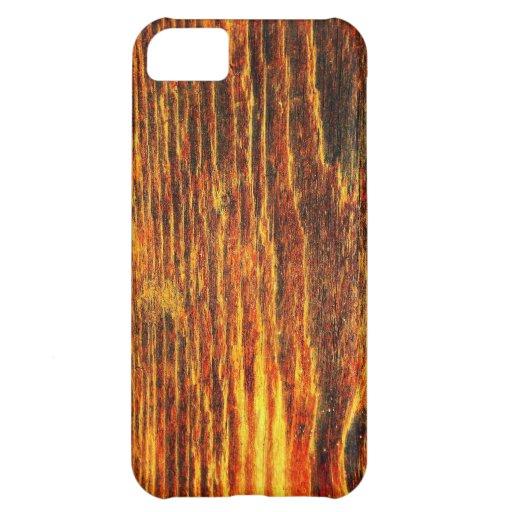 Moda natural del estilo de la textura de Brown de  Carcasa iPhone 5C