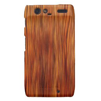 Moda natural del estilo de la textura de Brown de  Motorola Droid RAZR Carcasa