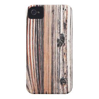 Moda natural del estilo de la textura de Brown de iPhone 4 Case-Mate Cobertura