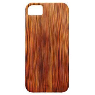 Moda natural del estilo de la textura de Brown de iPhone 5 Carcasas