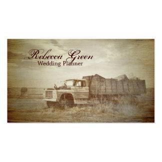 moda occidental rústica del país del camión de la  tarjetas de visita