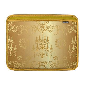 Moda, oro, vintage, lámpara, damasco, de moda, funda para macbook air