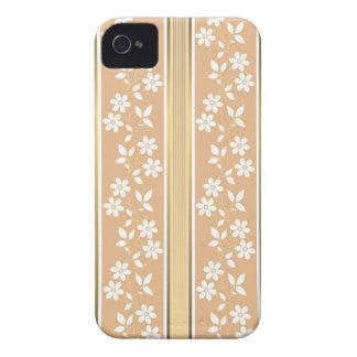 moda, papel de empapelar, champán, oro, floral, Case-Mate iPhone 4 protector