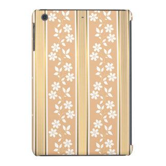 moda, papel de empapelar, champán, oro, floral, funda para iPad mini retina