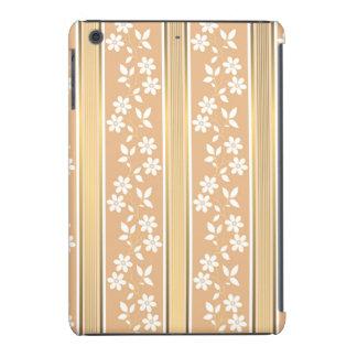 moda, papel de empapelar, champán, oro, floral, fundas de iPad mini retina