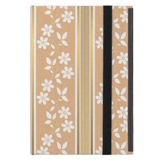 moda, papel de empapelar, champán, oro, floral, iPad mini fundas