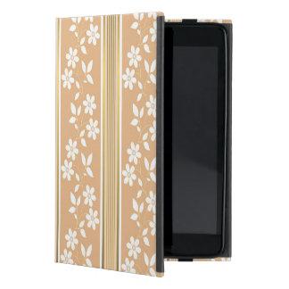 moda, papel de empapelar, champán, oro, floral, iPad mini cárcasa