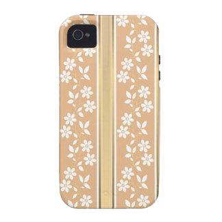 moda, papel de empapelar, champán, oro, floral, iPhone 4/4S fundas