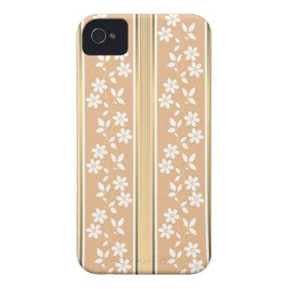 moda, papel de empapelar, champán, oro, floral, iPhone 4 cárcasas