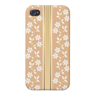 moda, papel de empapelar, champán, oro, floral, iPhone 4 funda