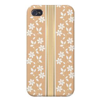 moda, papel de empapelar, champán, oro, floral, iPhone 4 fundas