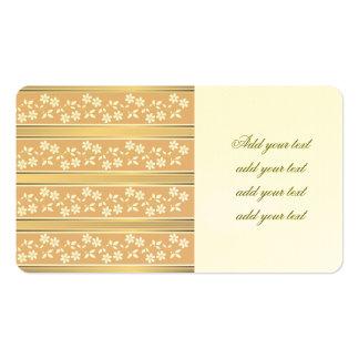 moda, papel de empapelar, champán, oro, floral, tarjetas de visita