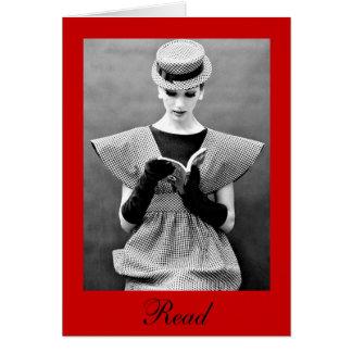 Moda para leer tarjetas de nota