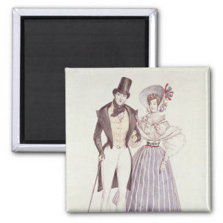 Moda para los hombres y las mujeres, 1830 imán cuadrado