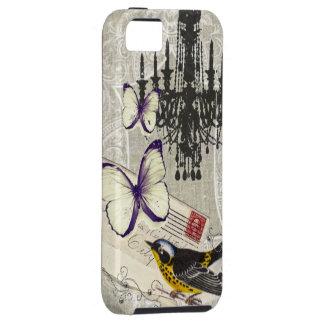 moda París de la lámpara del pájaro del vintage iPhone 5 Carcasas