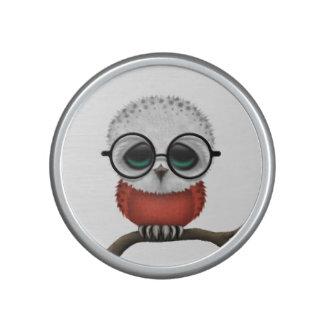 Moda polaca Nerdy adaptable del búho del bebé Altavoz Bluetooth