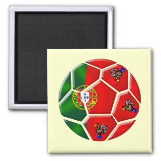 Moda Portuguesa - Fuetbol Chique 2 Inch Square Magnet