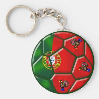 Moda Portuguesa - Fuetbol Chique Llavero Redondo Tipo Pin