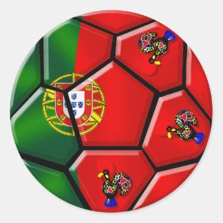 Moda Portuguesa - Fuetbol Chique Pegatina Redonda