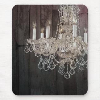 moda púrpura de París de la lámpara del barnwood d Alfombrilla De Ratones
