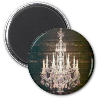 moda púrpura de París de la lámpara del barnwood d Imán