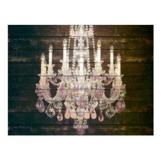 moda púrpura de París de la lámpara del barnwood d Postales