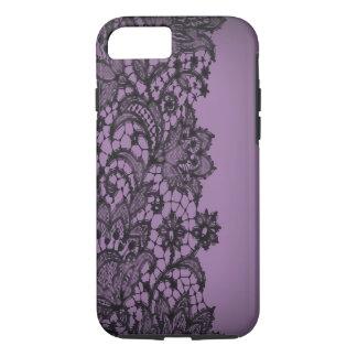 Moda púrpura iPhone5case de París del blackLace Funda iPhone 7