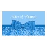 Moda que deslumbra floral azul con el arco bonito plantilla de tarjeta personal