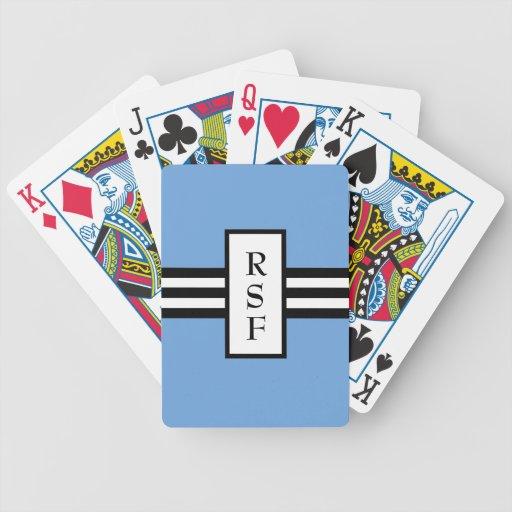 MODA QUE JUEGA CARDS_ 153 BLUE/BLACK /WHITE CARTAS DE JUEGO