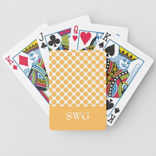 MODA QUE JUEGA CARDS_ 56 DOTS/WHITE ANARANJADO BARAJA CARTAS DE POKER
