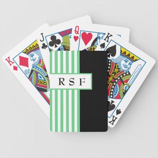 MODA QUE JUEGA CARDS_ 62 MINT/BLACK /WHITE BARAJAS DE CARTAS