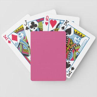 MODA QUE JUEGA EL SÓLIDO ROSADO DE CARDS_ 269 BARAJA CARTAS DE POKER