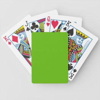 MODA QUE JUEGA EL SÓLIDO VERDE DE CARDS_ 74 BARAJA DE CARTAS