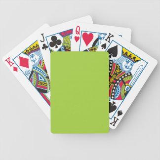 MODA QUE JUEGA EL SÓLIDO VERDE DE CARDS_ 90 BARAJAS DE CARTAS