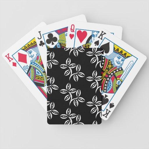 MODA QUE JUEGA LAS VAINAS FLORALES DE CARDS_ BLACK BARAJA DE CARTAS