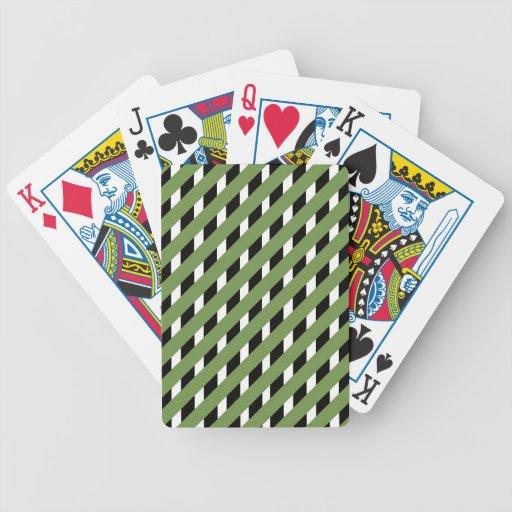 MODA QUE JUEGA RAYAS DE CARDS_ 77 GREEN/BLACK BARAJAS