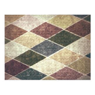 Moda retra de la materia textil de la tela cruzada postales