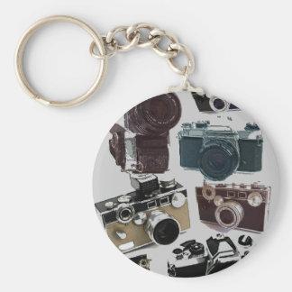 Moda retra de las cámaras del Grunge del vintage Llavero Redondo Tipo Pin