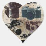 Moda retra de las cámaras del Grunge del vintage Colcomanias De Corazon