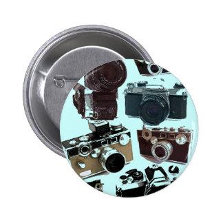 Moda retra de las cámaras del Grunge del vintage Pin Redondo De 2 Pulgadas