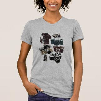 Moda retra de las cámaras del Grunge del vintage Camisetas