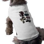 Moda retra de las cámaras del Grunge del vintage Camisetas De Perro